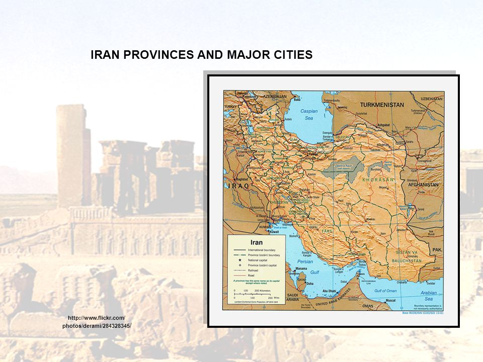 IRAN PROVINCES AND MAJOR CITIES