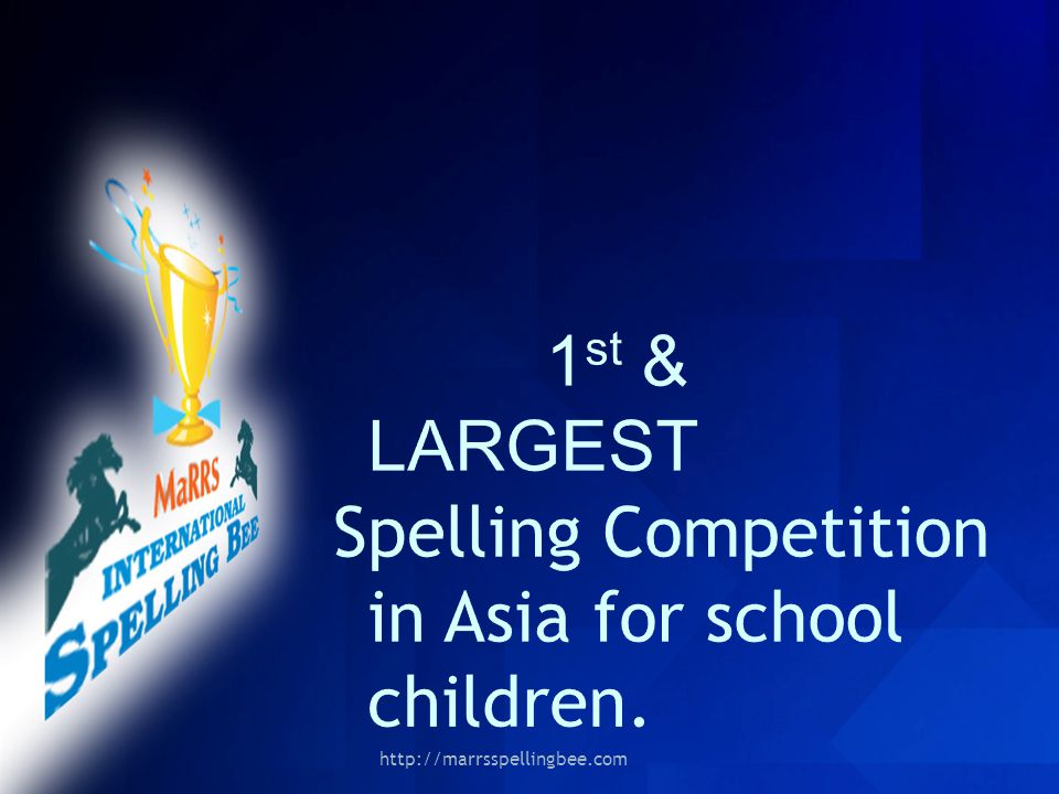Spelling Competition in Asia for school children.