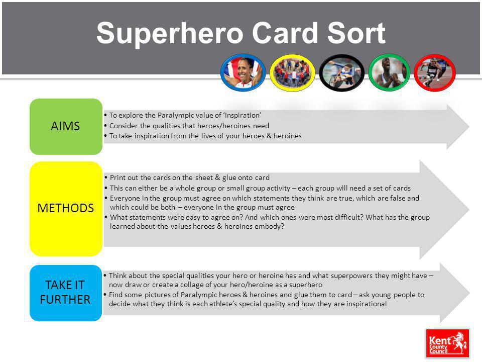 Superhero Card Sort AIMS