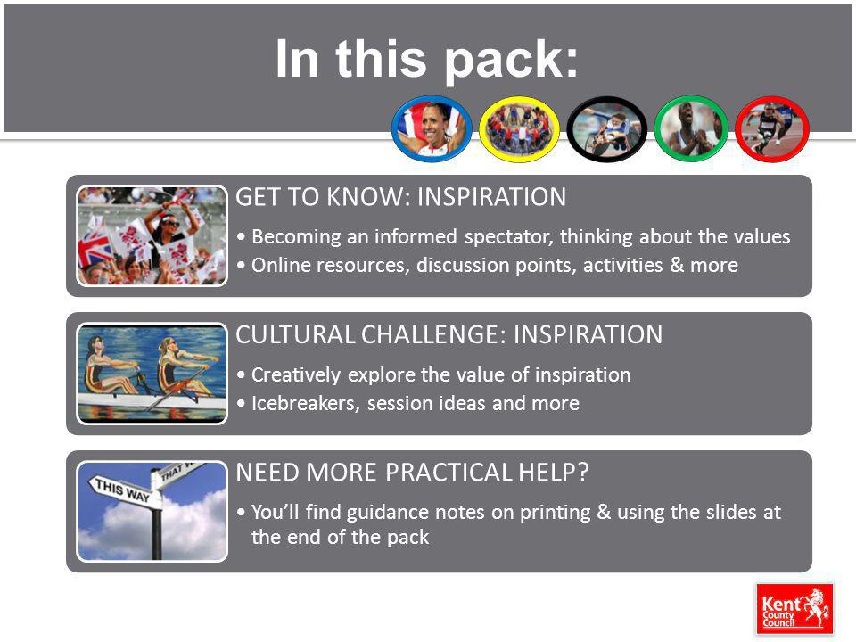 In this pack: GET TO KNOW: INSPIRATION