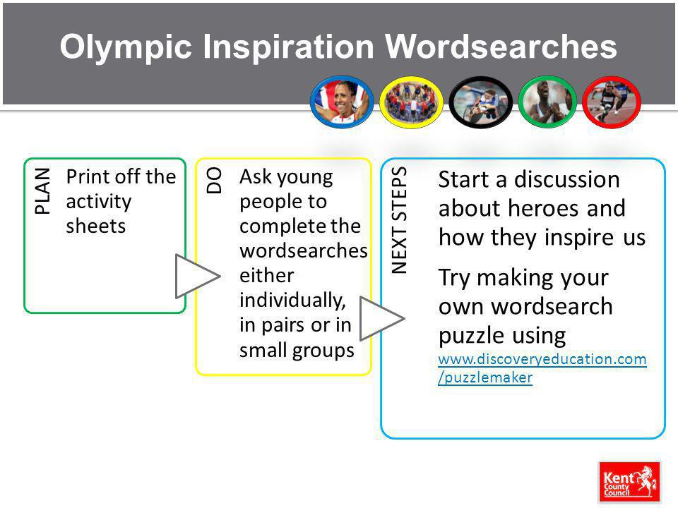 Olympic Inspiration Wordsearches