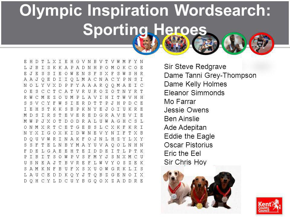 Olympic Inspiration Wordsearch: Sporting Heroes
