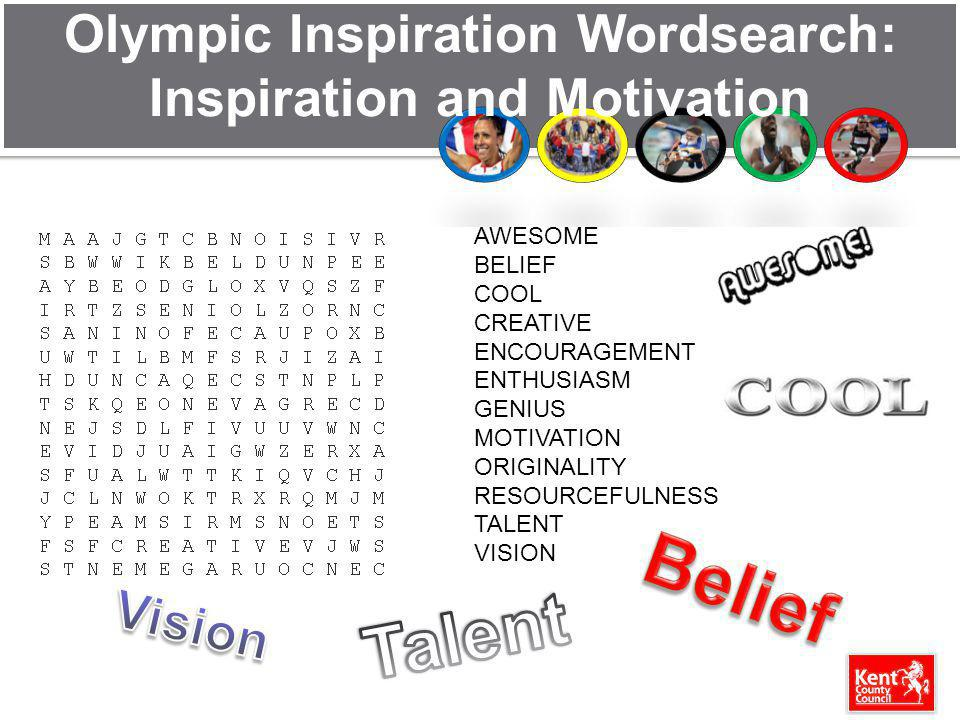 Olympic Inspiration Wordsearch: Inspiration and Motivation
