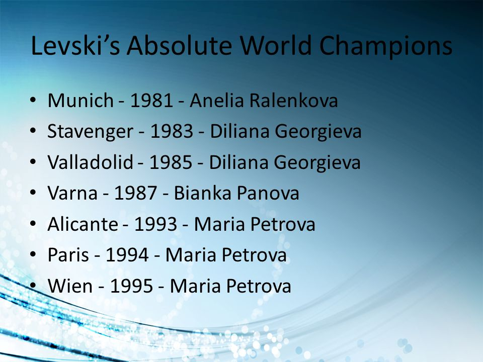 Levski's Absolute World Champions