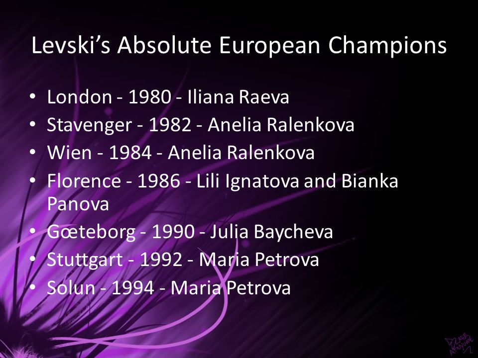 Levski's Absolute European Champions
