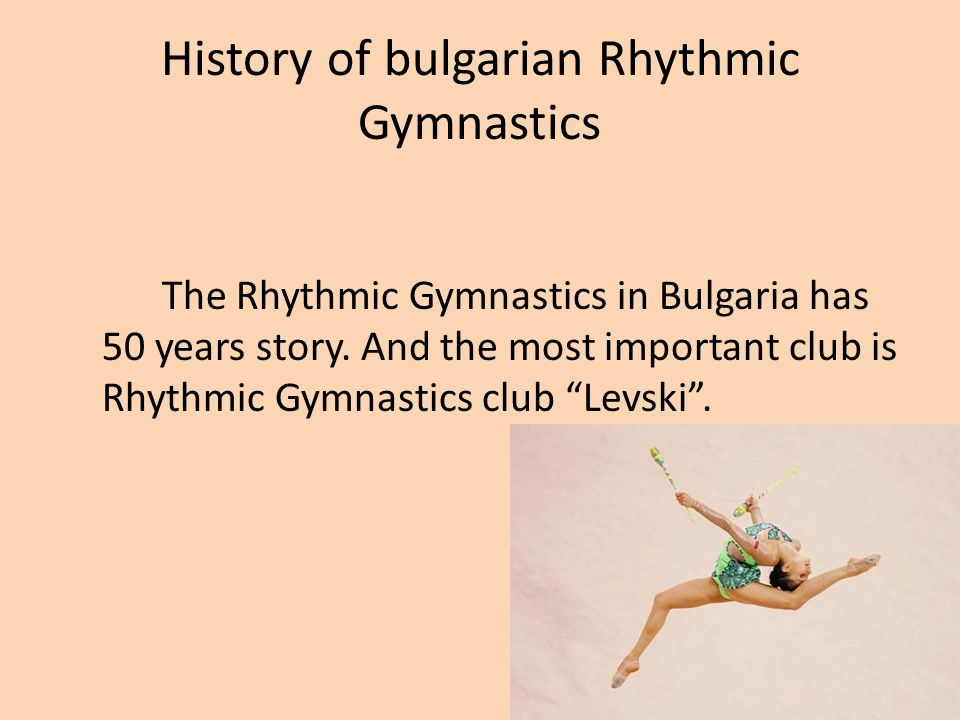 History of bulgarian Rhythmic Gymnastics
