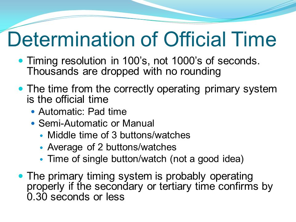 Determination of Official Time