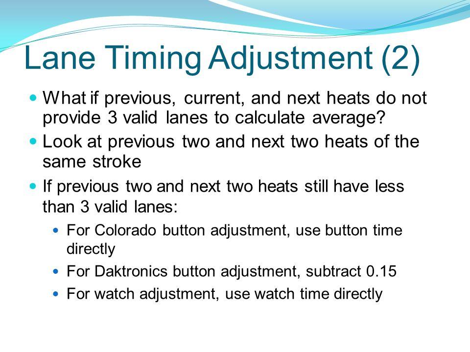 Lane Timing Adjustment (2)