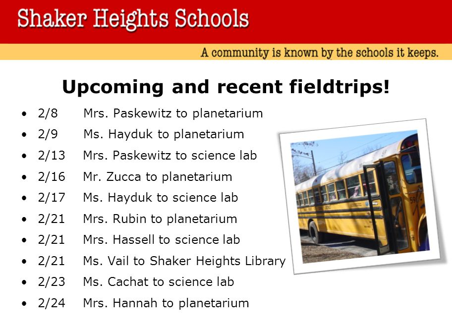 Upcoming and recent fieldtrips!