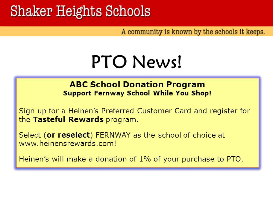 ABC School Donation Program Support Fernway School While You Shop!