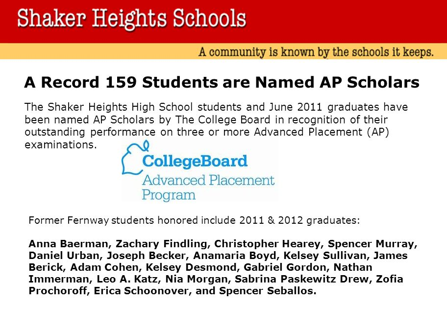 A Record 159 Students are Named AP Scholars