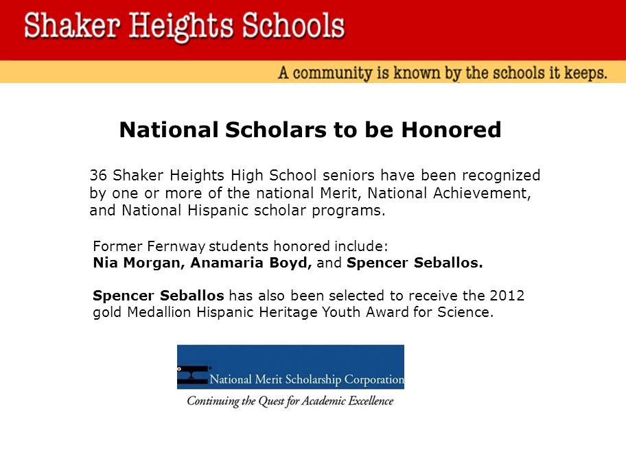 National Scholars to be Honored