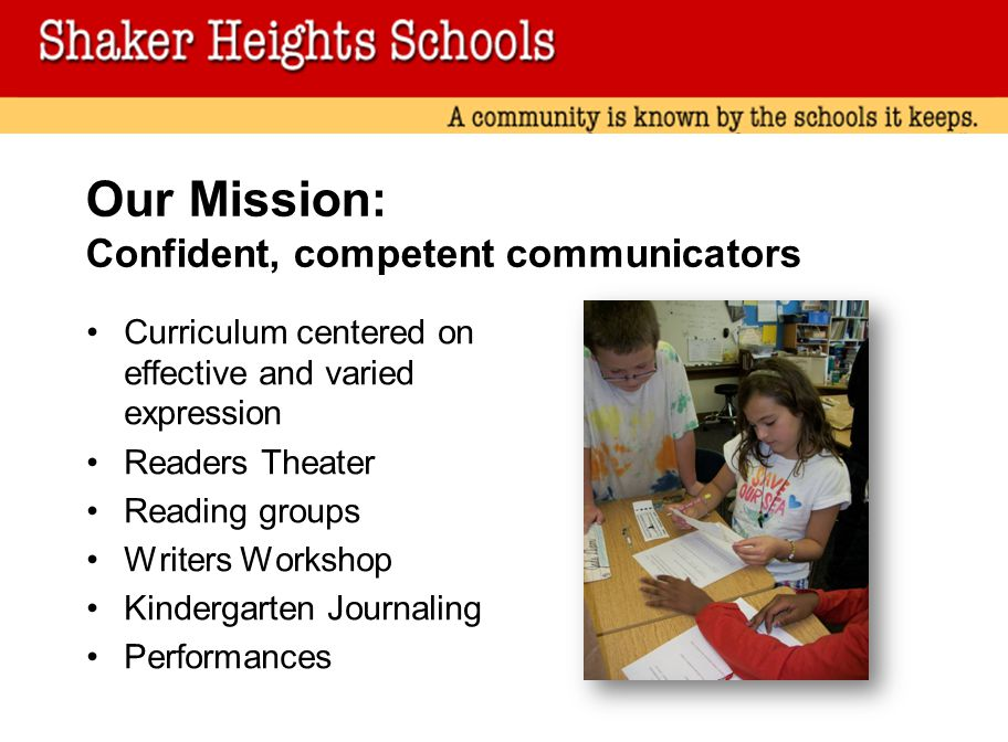 Our Mission: Confident, competent communicators