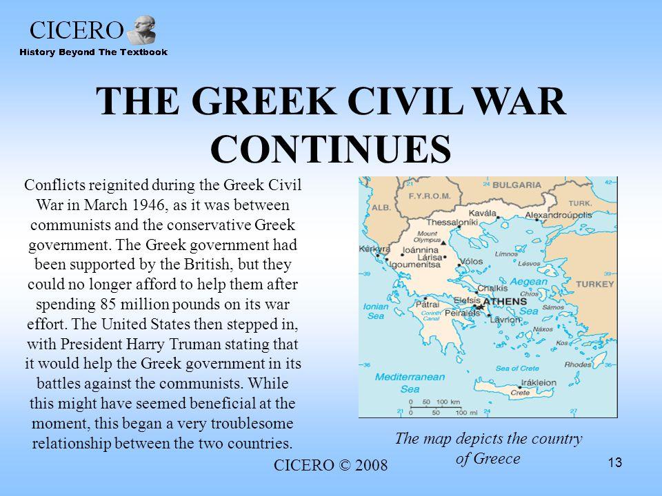 THE GREEK CIVIL WAR CONTINUES