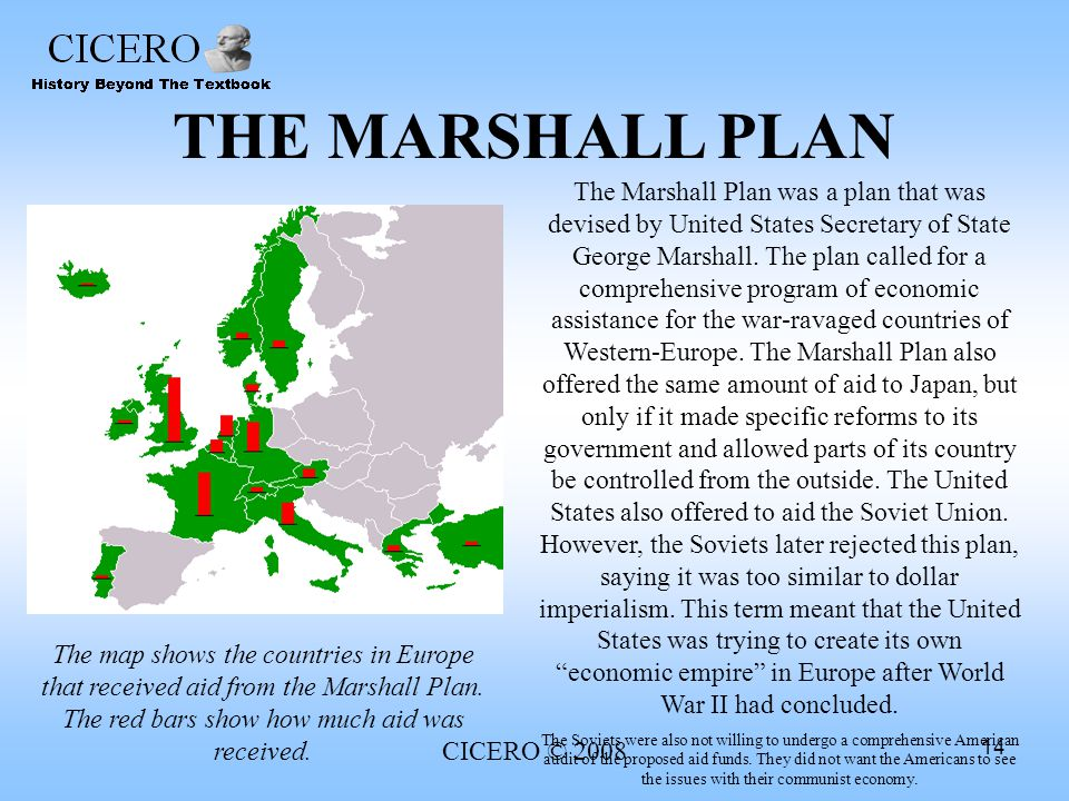 an analysis of the marshall plan in the european nations Get an answer for 'what were the goals of the marshall plan' and find homework help for other history questions at enotes of european nations as an outlet.