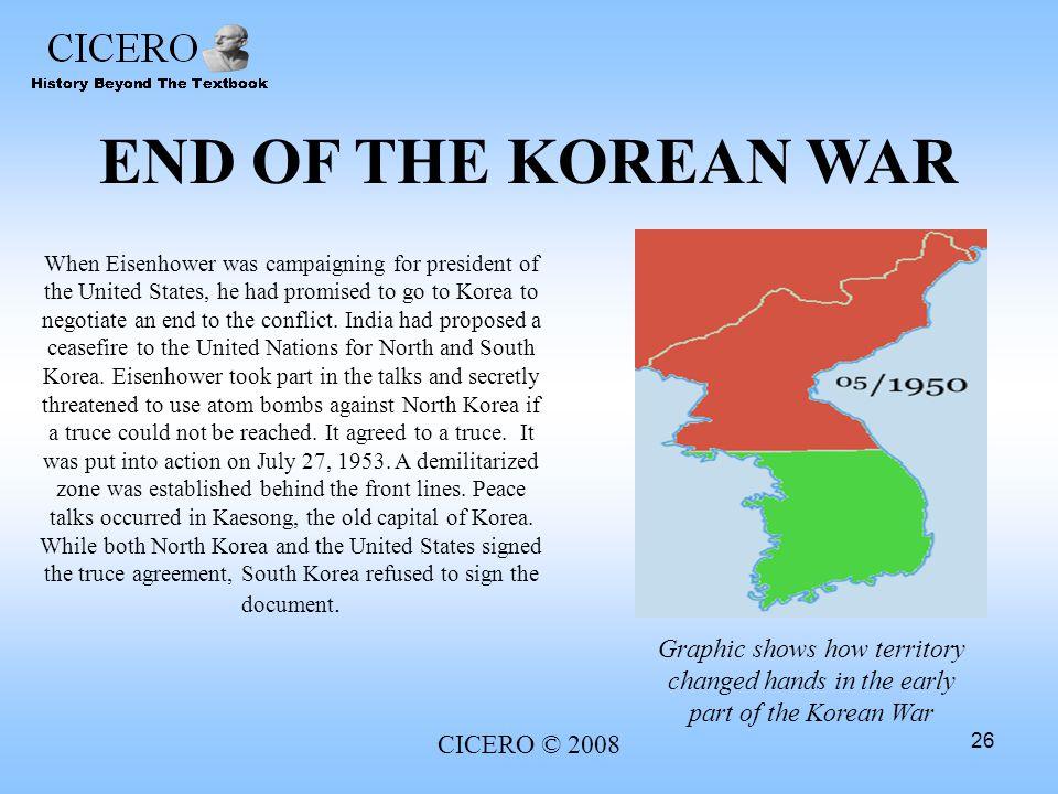 END OF THE KOREAN WAR