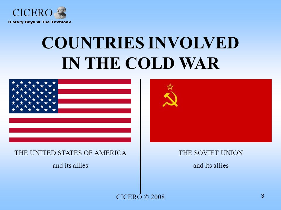 COUNTRIES INVOLVED IN THE COLD WAR