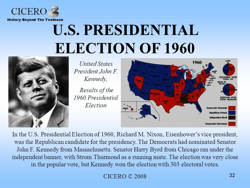 U.S. PRESIDENTIAL ELECTION OF 1960