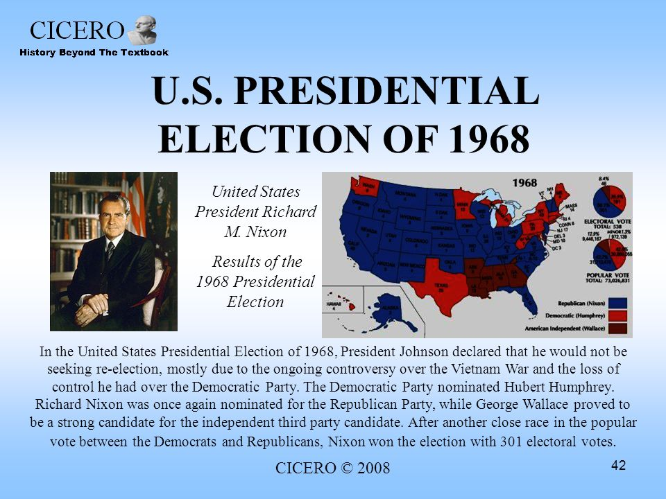 U.S. PRESIDENTIAL ELECTION OF 1968