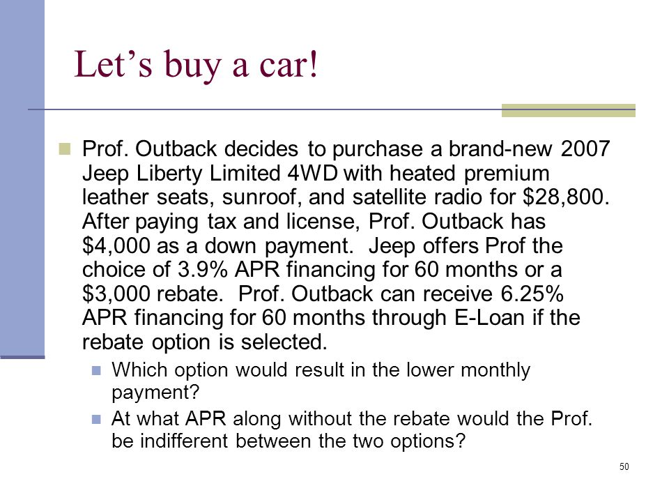 Let's buy a car!