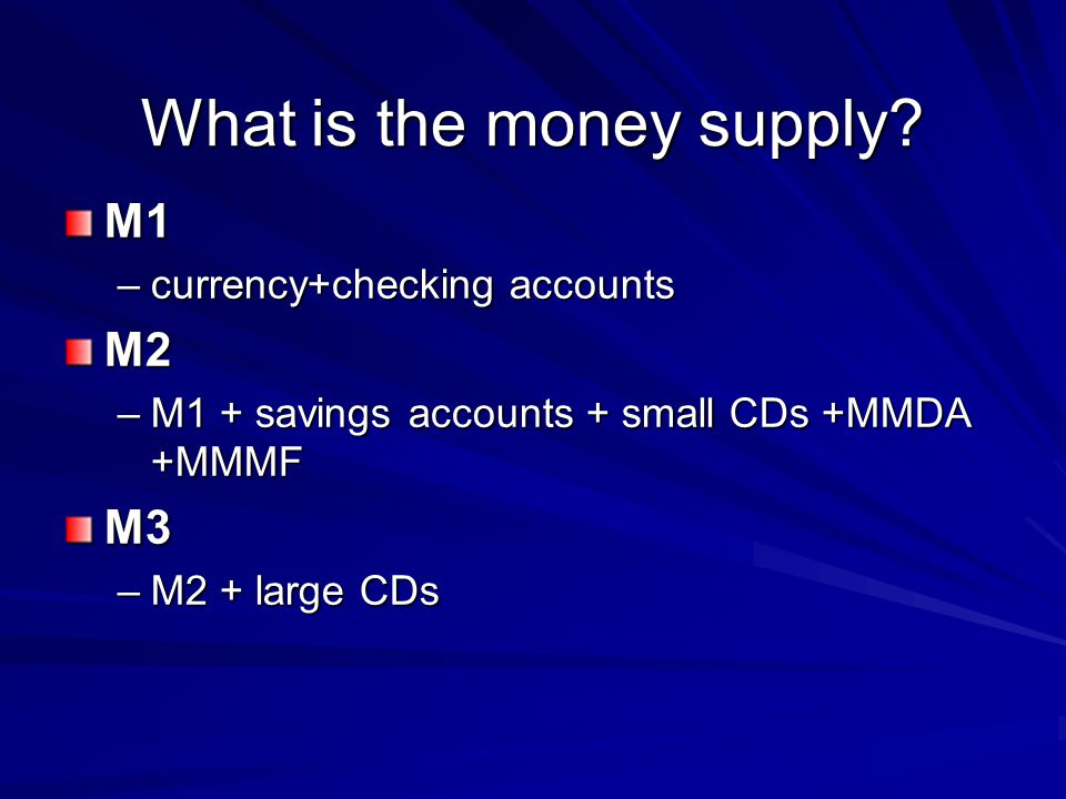 What is the money supply