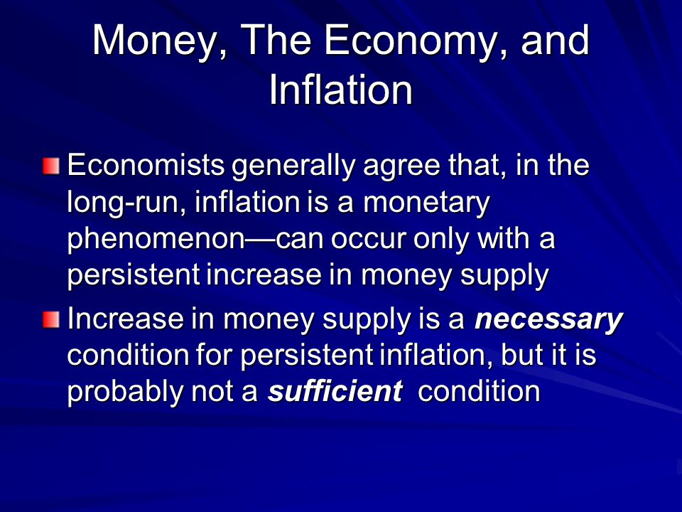 Money, The Economy, and Inflation