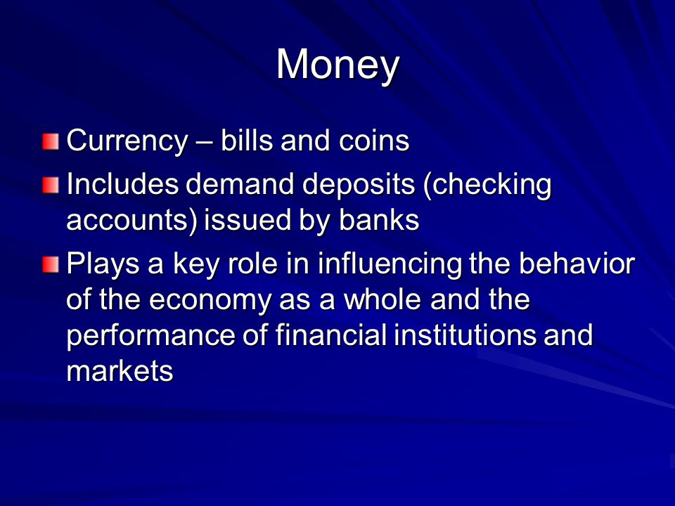 Money Currency – bills and coins