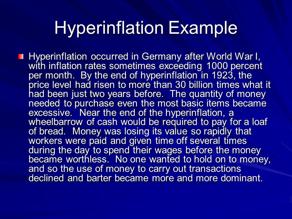 Hyperinflation Example