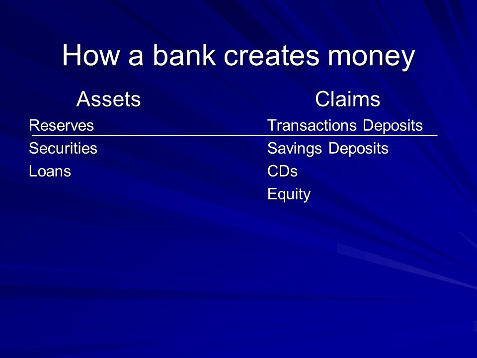 How a bank creates money