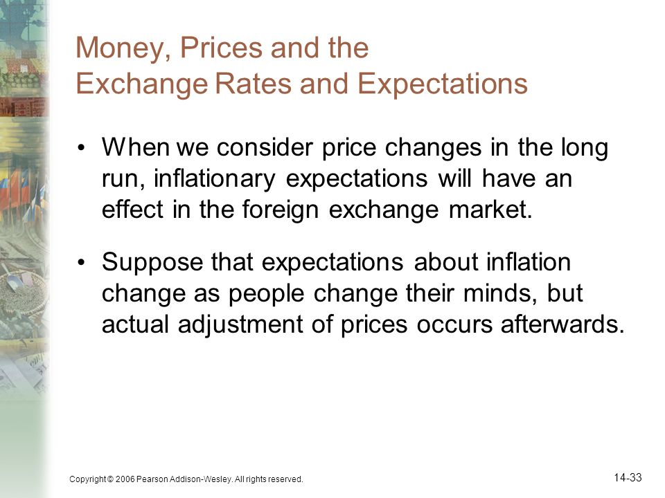 Money, Prices and the Exchange Rates and Expectations