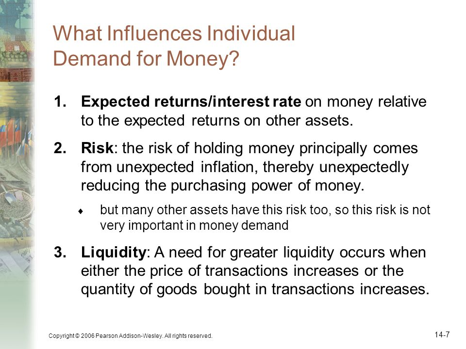 What Influences Individual Demand for Money