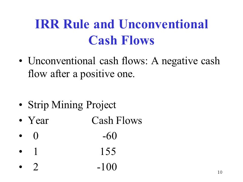 IRR Rule and Unconventional Cash Flows