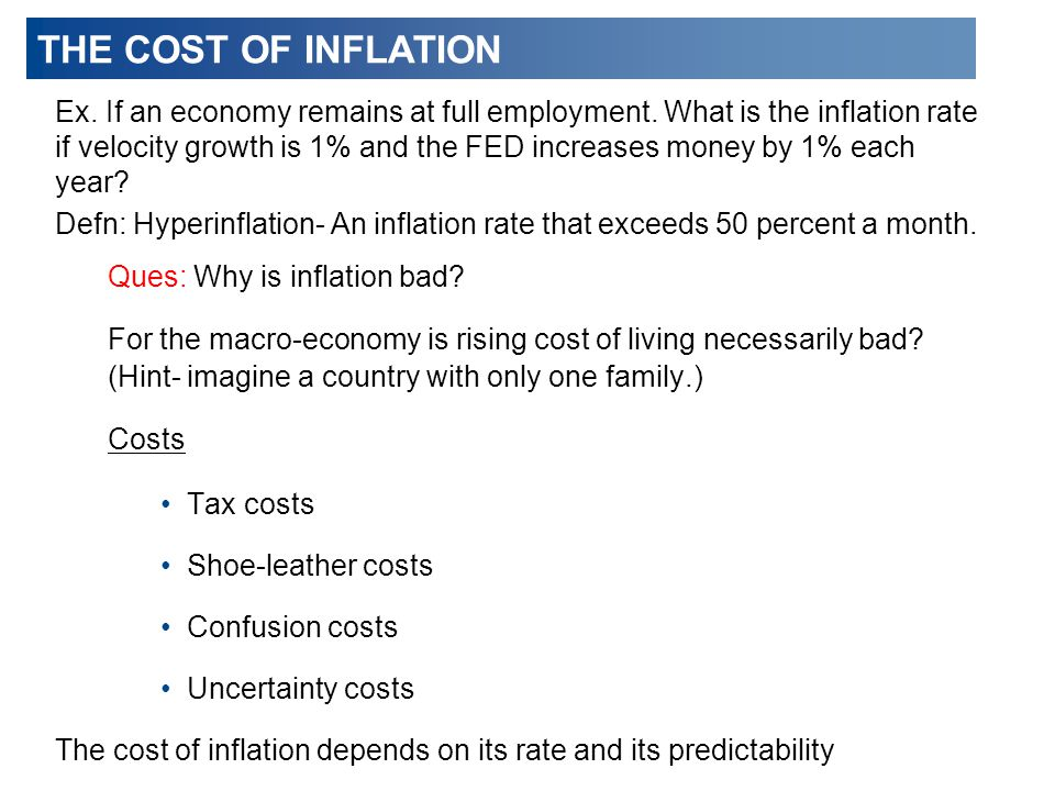 THE COST OF INFLATION