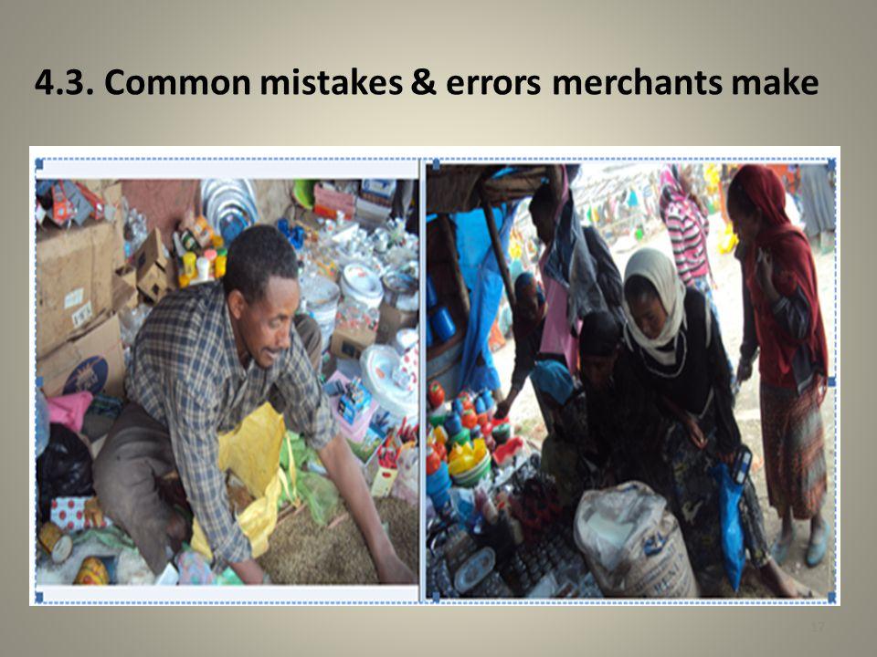 4.3. Common mistakes & errors merchants make