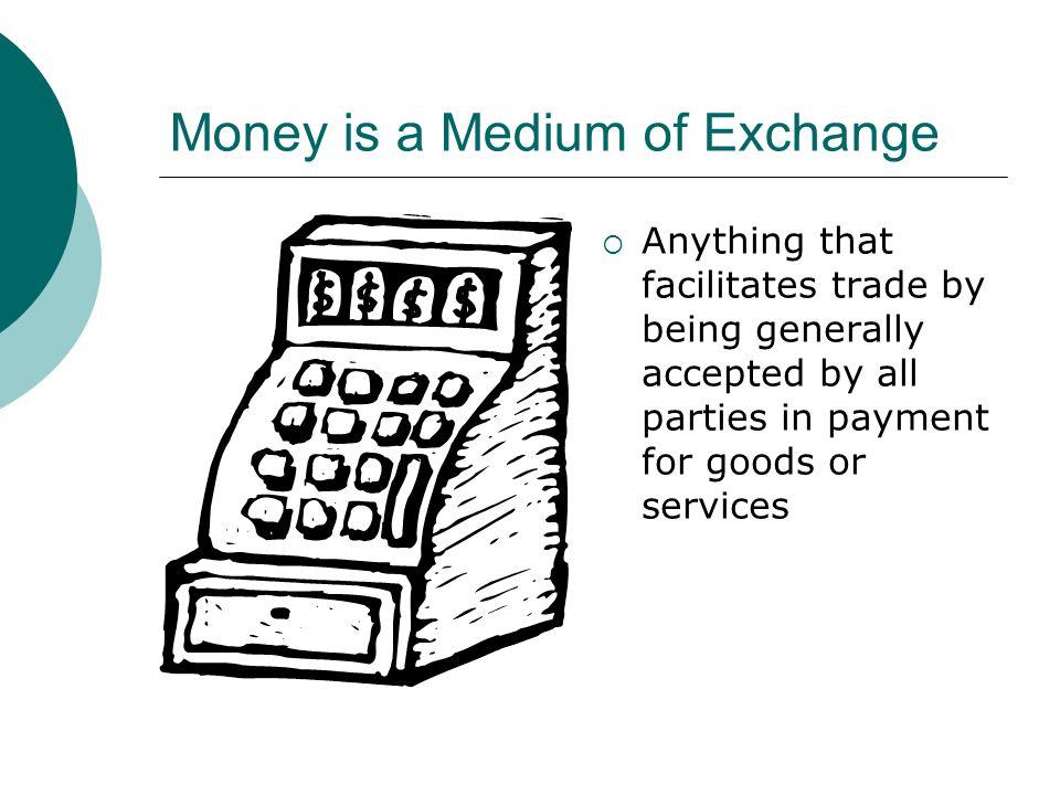 Money is a Medium of Exchange