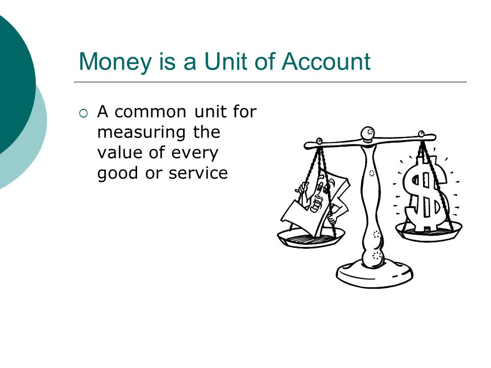 Money is a Unit of Account