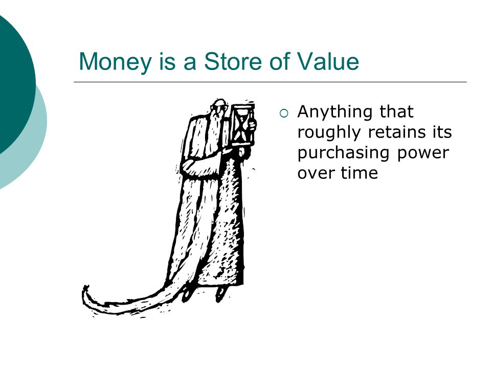Money is a Store of Value