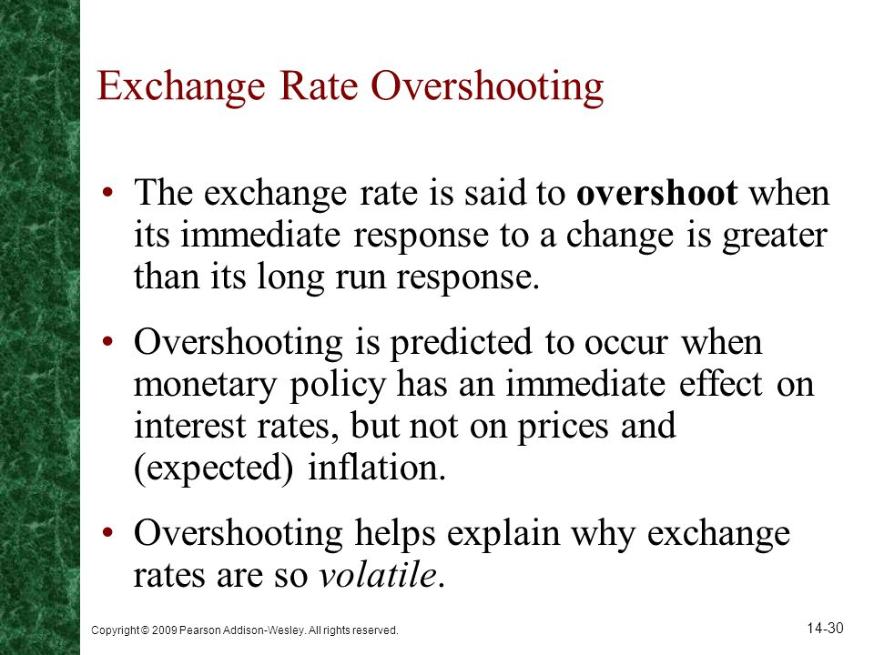 Exchange Rate Overshooting