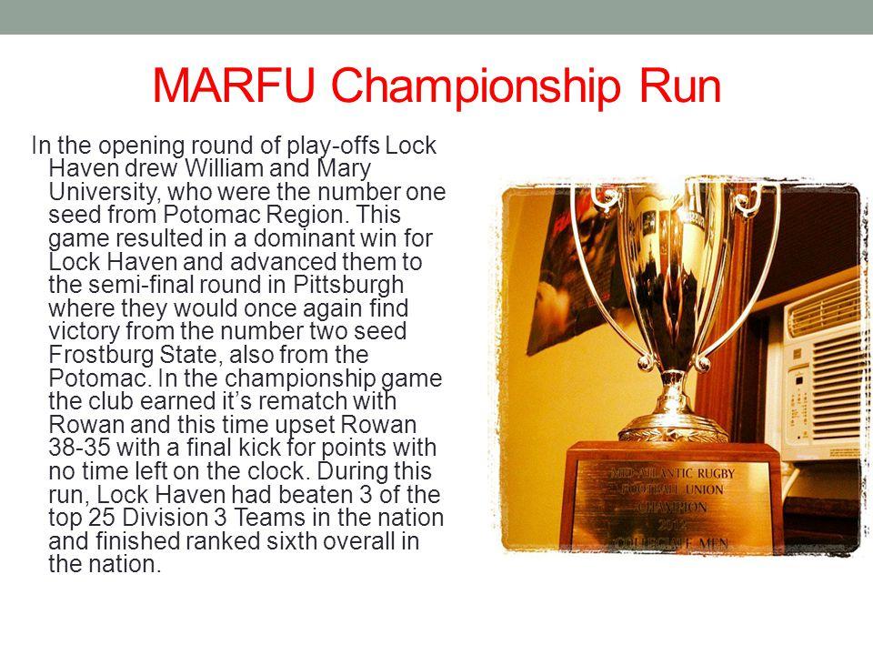MARFU Championship Run