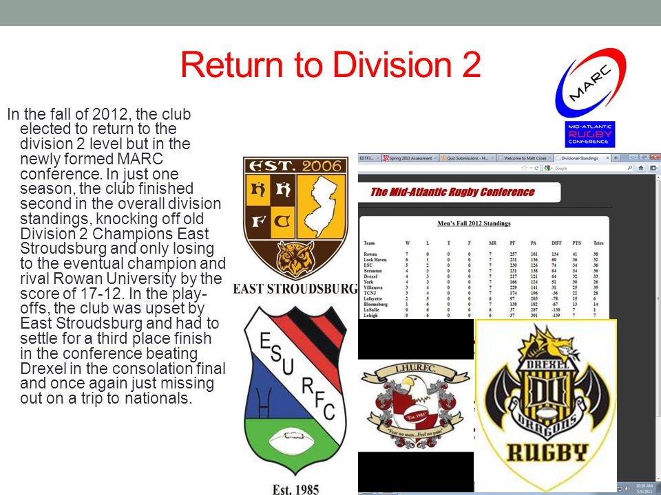 Return to Division 2