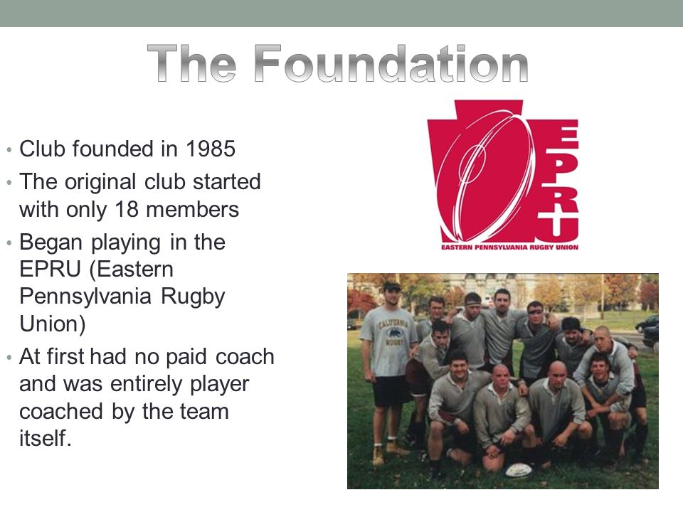 The Foundation Club founded in 1985