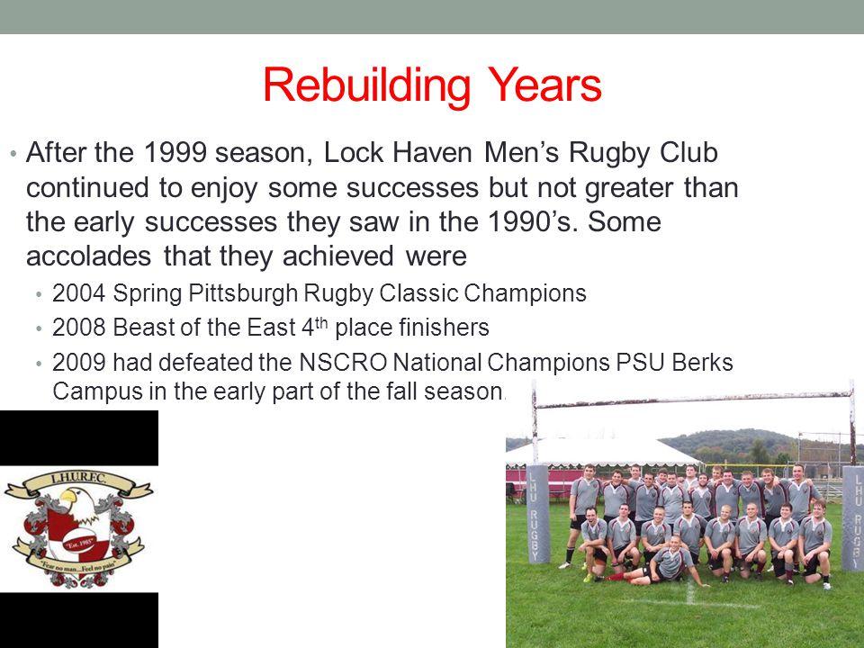 Rebuilding Years