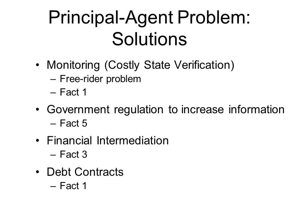 Principal-Agent Problem: Solutions