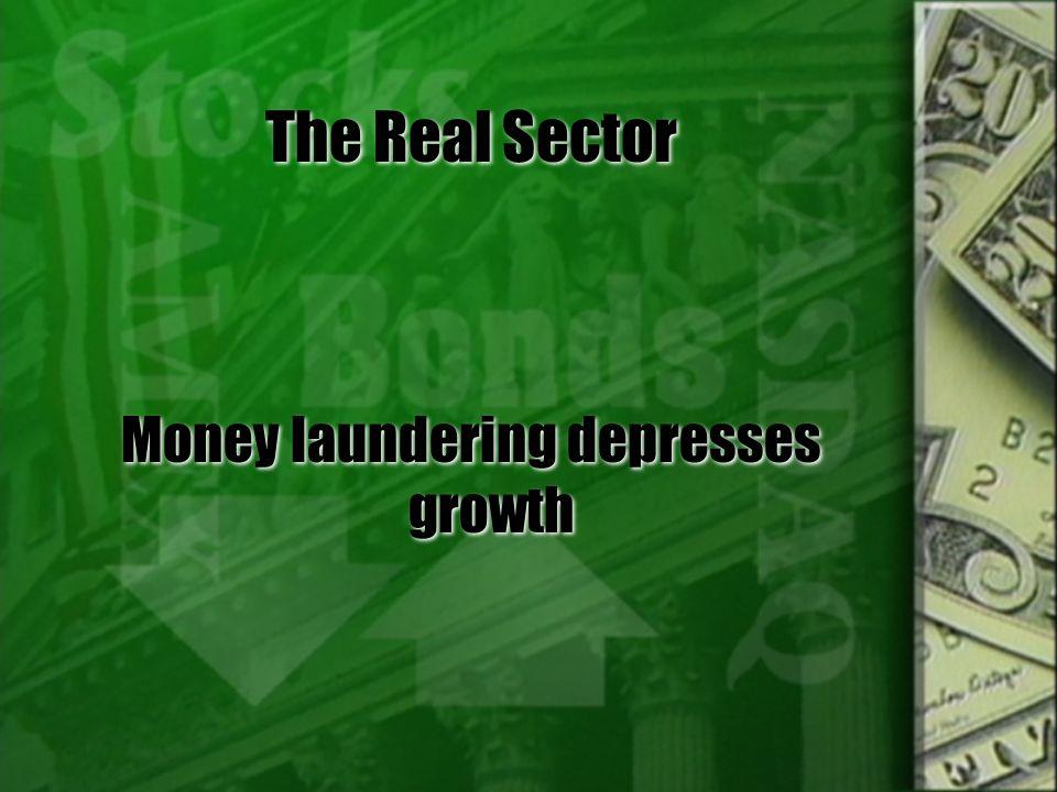 Money laundering depresses growth