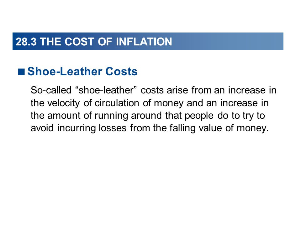 Shoe-Leather Costs 28.3 THE COST OF INFLATION