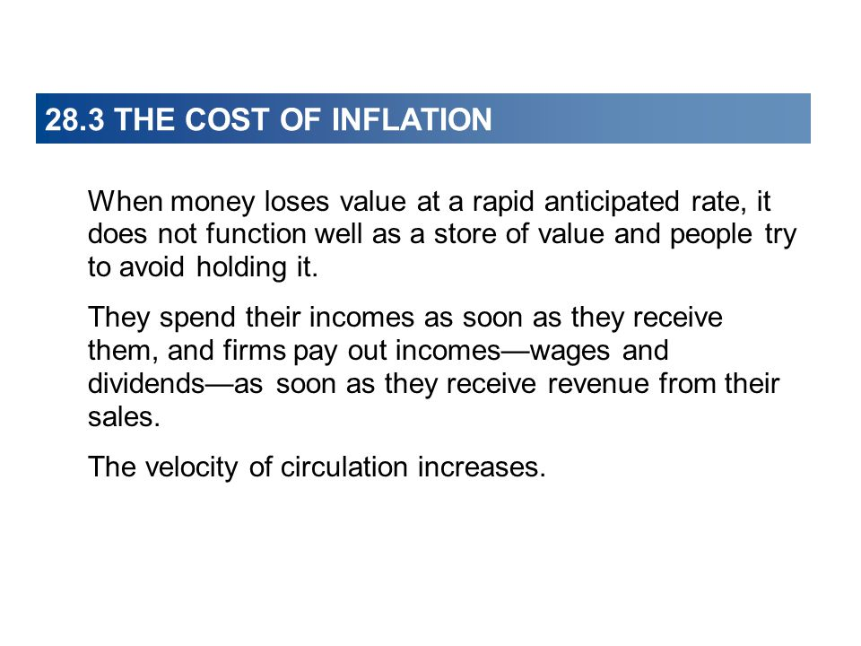 28.3 THE COST OF INFLATION