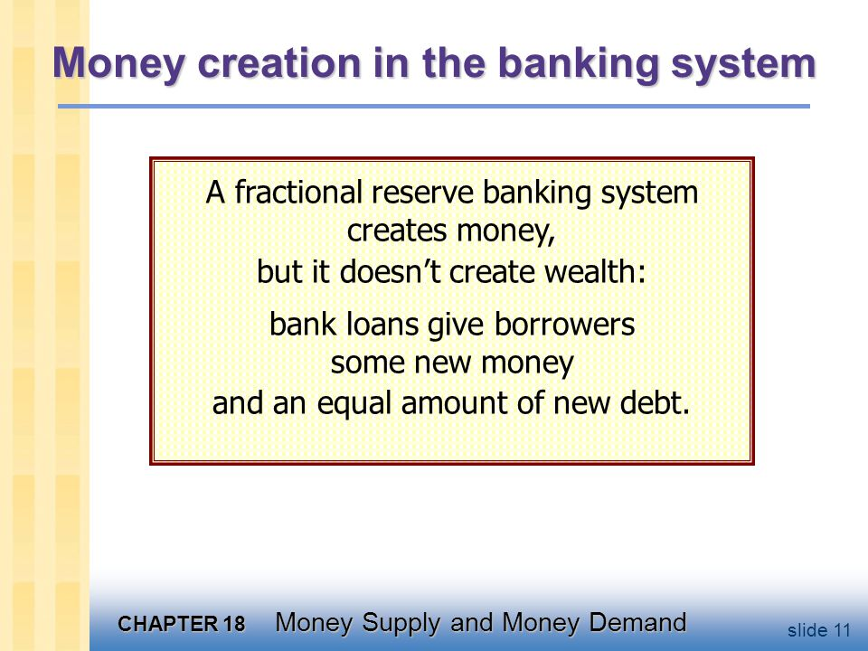 A model of the money supply