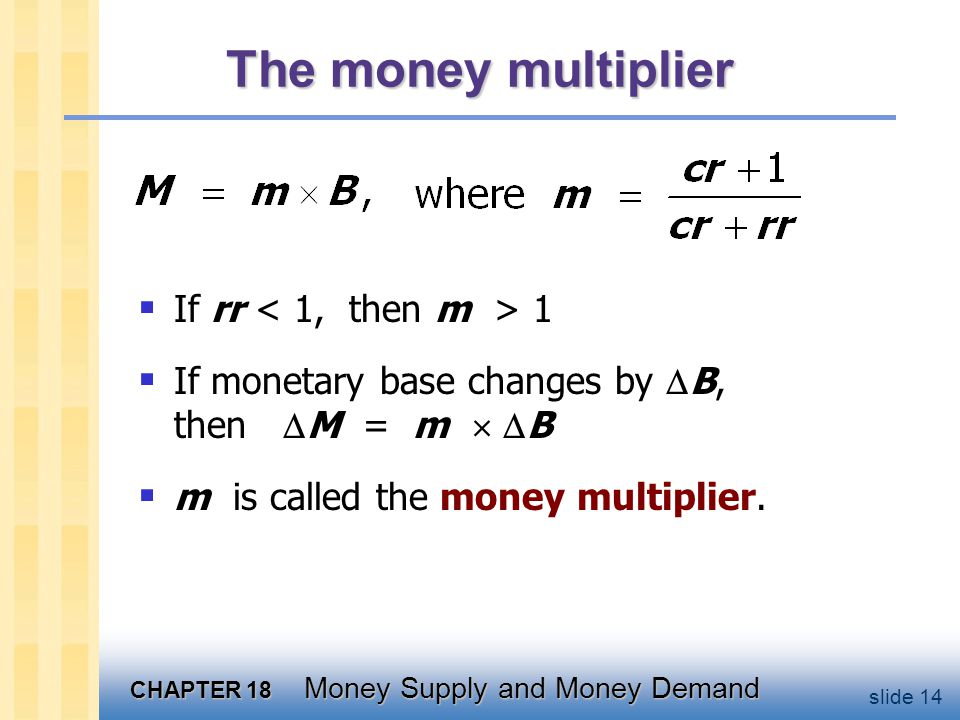 Exercise where Determine impact on money supply.