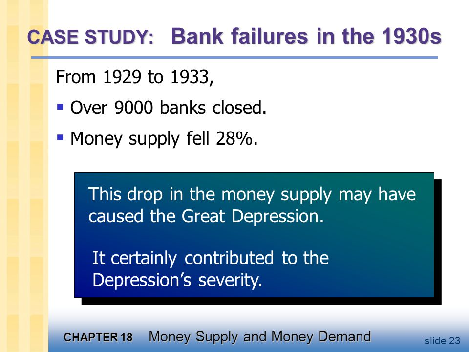 Table 18-1: The Money Supply and its Determinants: 1929 and 1933
