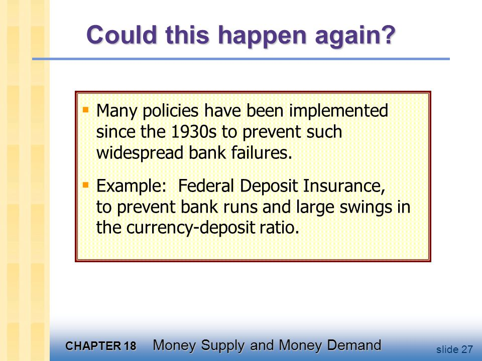 Money Demand Two types of theories: Portfolio theories